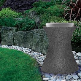 image-Xantian LED Outdoor Light Up Stool with Cushion - Dark Grey