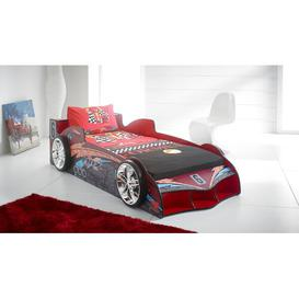 image-Cuda Racing Single Car Bed Just Kids Colour: Gloss Red