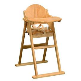 image-East Coast Wooden Folding Highchair Natural
