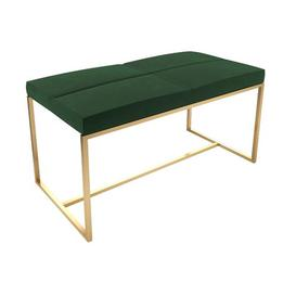 image-Euclid Dressing Table Stool Canora Grey Colour (Frame): Polished, Colour (Seat): Deep Green