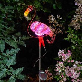 image-Smart Solar Flamingo Solar Powered Stake Light