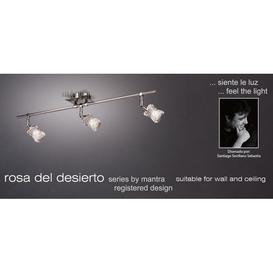 image-M0043 Rosa Del Desierto 3 Light Chrome Ceiling Or Wall Flush