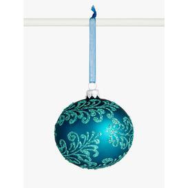 image-John Lewis & Partners Bloomsbury Floral Bauble, Blue