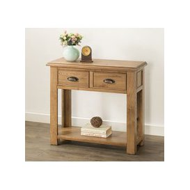 image-Rustica Oak Large Console Table