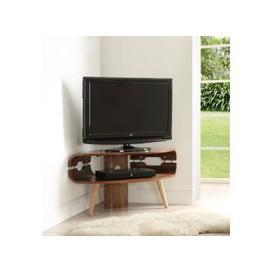 image-Jual Walnut Corner TV Stand JF701