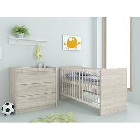 image-Mannion Cot Bed 2 Piece Nursery Furniture Set Isabelle & Max