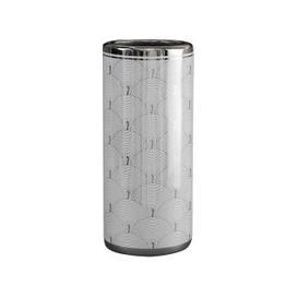 image-Libra Silver And White Fan Deco Ceramic Umbrella Stand
