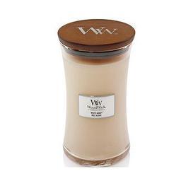 image-Woodwick Large Hourglass Candle &Ndash White Honey