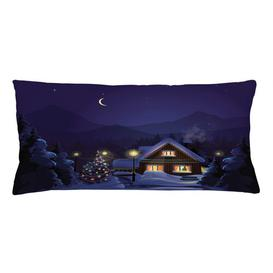 image-Skjalm Winter Home and Tree Outdoor Cushion Cover Ebern Designs Size: 40cm H x 90cm W