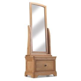 image-Vezelay Natural Oak Furniture Cheval Mirror