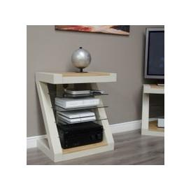 image-Z Painted HiFi Cabinet with Natural Oak Top