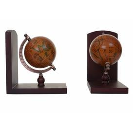 image-Globe World Ball Book Ends Marlow Home Co.