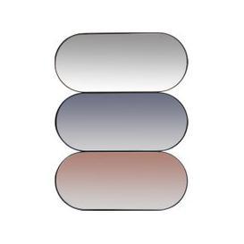 image-Triple Oval Metal Mirror 60x45