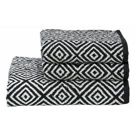 image-Francesca 3 Piece Hand and Bath Towel Bale Bloomsbury Market Colour: Black