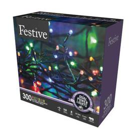 image-300 LED Multicolour 29.9m Dual Power Christmas Tree Outdoor Lights