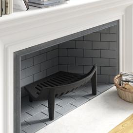 image-Cast Iron Fireplace Grate