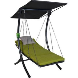 image-Bambu Swing Seat with Stand Sol 72 Outdoor Colour (Cushion): Green
