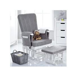 image-Obaby Deluxe Reclining Nursing Chair and Stool