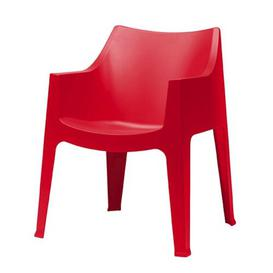 image-Ebel Stacking Dining Chair Dakota Fields Seat Colour: Red