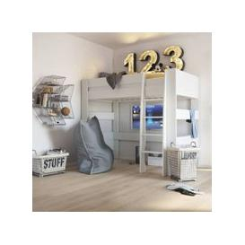 image-Memphis Wooden High Sleeper Childern Bed In White