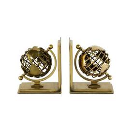 image-Eichholtz Bookend Globe set of 2 antique brass finish