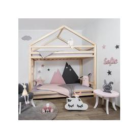 image-Benlemi Cloudy Bunk Bed - Turquoise