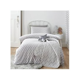 image-Sweetheart Silver Duvet Cover and Pillowcase Set Grey