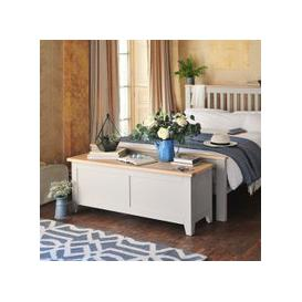 image-Chester Dove Grey Wide Blanket Box