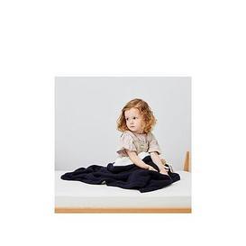image-The Little Green Sheep Organic Knitted Fleece Baby Blanket