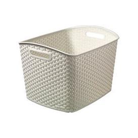 image-Curver 28L Vintage White Basket Vintage White