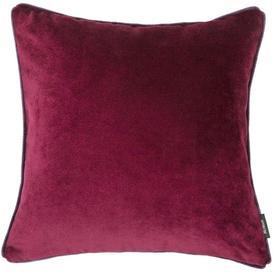image-Matt Wine Red Velvet Cushion, Polyester Filler / 49cm x 49cm