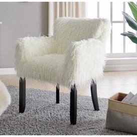 image-White Faux Sheepskin Fur Tub Chair