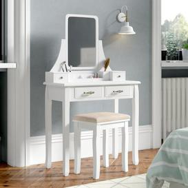image-Ally Dressing Table Set with Mirror Lily Manor