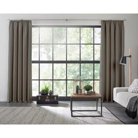image-Torquay Pencil Pleat Blackout Curtains Ebern Designs Colour: Grey, Size: 255cm H x 145cm W