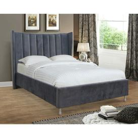 image-Newport Upholstered Bed Frame Canora Grey Size: Double (4'6)