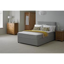 image-Chelsea Grey Fabric Divan Set and Comfort Spring Memory Foam Mattress