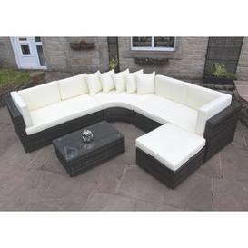 image-Rattan Outdoor Curved Corner Sofa Set Garden Furniture