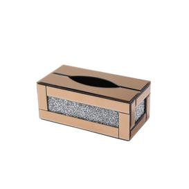 image-Fuselier Tissue Box Cover Fairmont Park Finish: Rose Gold