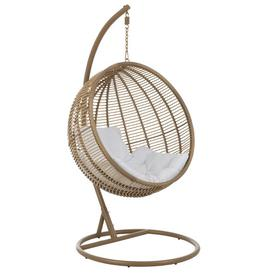 image-Canterbury Round Swing Chair with Stand Beachcrest Home Colour: Brown