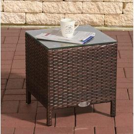 image-Redmayne Aluminium and Rattan Side Table Sol 72 Outdoor Colour: Brown
