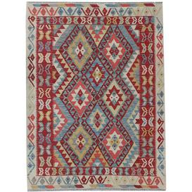 image-Daye Traditional Handmade Kilim Wool Red Rug Bloomsbury Market