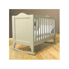 image-Mathy by Bols Baby Cot with Rockers in Dominique Design - Mathy Ochre