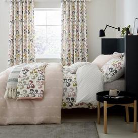 image-Helena Springfield Liv Blush Duvet Cover and Pillowcase Set Blush, Grey and White