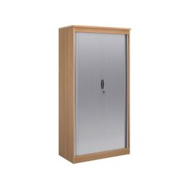 image-Multi Storage Tambour Cupboards, 102wx55dx200h (cm), Beech, Free Delivered & Fully Installed Delivery