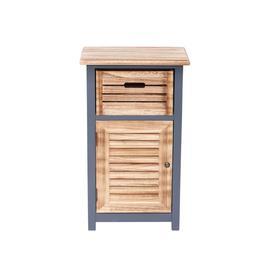 image-Goodson 45Cm W x 80Cm H x 30Cm D Solid Wood Free-Standing Bathroom Cabinet