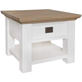 image-Oakdale Oak and Painted 1 Drawer Side Table