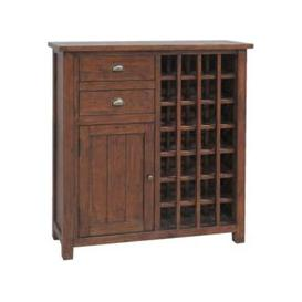 image-Classic Driftwood Wine Cabinet - Reclaimed Pine