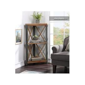 image-Baumhaus Urban Elegance - Reclaimed Small Corner Bookcase