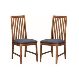 image-Trimble Wooden Dining Chair In Rich Acacia In A Pair
