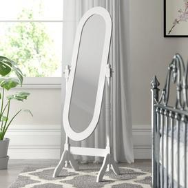 image-Vida Nishano Cheval Mirror Rosalind Wheeler Finish: White